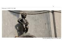 比利時只有-13℃ 「尿尿小童」結冰堵住