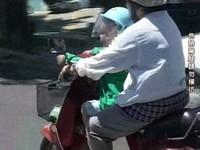 「腳踏板不得搭載孩童」 機車騎士:現在才知道