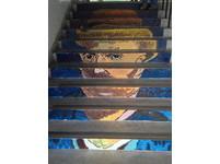 基隆女中太有「藝」思 樓梯成為梵谷展場