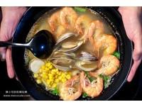 痛風也不管!三重深夜食堂鍋燒麵 「8隻蝦+3顆馬蹄蛤」鮮味爆棚