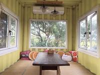 「桃園貨櫃屋」後院藏百種植物!有絕美窗景和雙醬披薩DIY