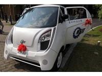 台北科技大學建校百年 總統搭乘電動車