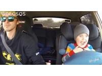 戰鬥民族老爸載小孩飆車甩尾!網友:以後進軍WRC