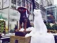 孤獨80年終於有伴! 忠犬八公雕像旁路人堆「白雪犬」