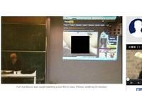 忘了關投影機 瑞士教授逛A片網站被學生看光光