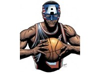 NBA/詹姆斯61分無敵猛 漫威奉上「美國隊長」面具