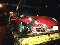 保時捷911 carrera S國道撞爛 5百萬毀了駕駛沒事