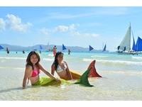 菲律賓長灘島 驚見「比基尼美人魚」現身?
