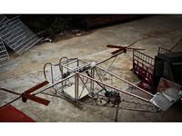 湖南農民5萬台幣打造直升機 試飛離地40公分