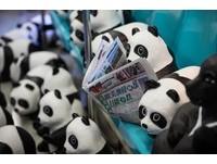 3月14日紙貓熊展移往兩廳院 搭捷運前往還邊看報紙