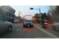 誇張BMW逆向硬闖想左轉 擋停紅燈車前步步逼近