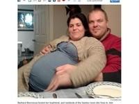 女友大肚懷5胞胎 男呵護9個月才發現...是肥胖