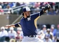 MLB/釀酒人王牌盛讚王維中 賈拉多:享受看他投球