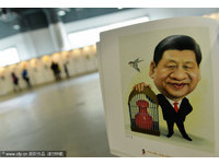 習近平把「權力關入籠」 中國五代領導人漫畫像吸睛