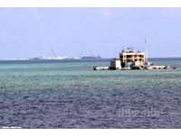 中共擴建南沙赤瓜礁 導彈護衛艦警戒