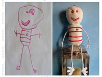 塗鴉跳脫畫布成真實 「童話玩偶」大受歡迎