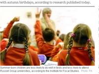 英國古怪研究:夏天出生的孩子難考上頂尖大學