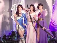 兩大遊戲商聯手發表《軒轅劍外傳》 女神團體舞劍宣傳
