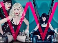 兩代女神凱蒂佩芮、瑪丹娜穿爆乳裝 大玩緊縛、狗爬SM