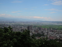 北投泉源中正山觀景平台遠眺美景 俯瞰關渡平原