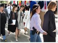 艾瑪華森畢業典禮上的大媽同學 居然是荷槍實彈女警