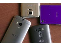 LG G3 與 One M8、GALAXY S5、Xperia Z2 外觀比一比