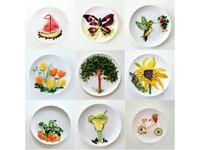 食物變藝術 正妹巧手排出蝴蝶、蜂鳥、烏龜