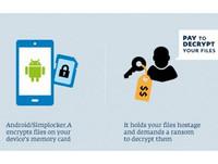 app01/安卓用戶SD卡文件被凍結 駭客求贖金13歐元?