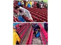 世足賽/輸球仍展現高風度 日本球迷賽後自撿垃圾