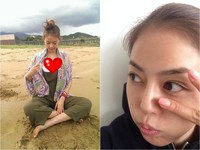 劉香慈沙灘擠乳還低頭看 偷拍照流出網友羞喊:已儲存