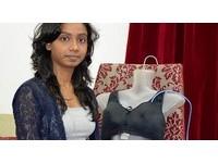自動報警的電擊Bra 印度女工程師發明防狼內衣