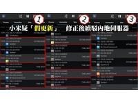APP01/小米「假更新」!資料繼續傳中國
