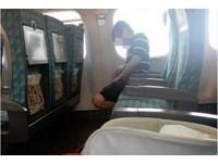 男在高鐵位上「尿成拋物線」被拍 網友:測試座位防水功能?