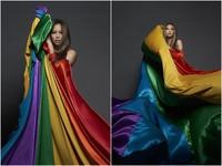 張惠妹領20位帥哥拍全裸寫真 披6色彩虹旗挺同志平權