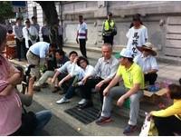 綠營靜坐凱道嗆馬 黨主席候選人紛現身表態
