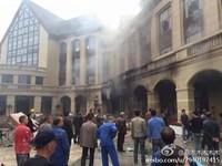 四川省郫縣墜機事故 至少3人嚴重燒傷