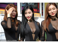 Sexy Girl黑bra+黑紗 澳門大賽車手忍不住偷看