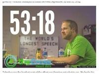 唐僧傳人? 美國牧師「演講馬拉松」53小時破世界紀錄