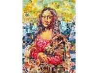 日本紙膠帶藝術家 拼貼蒙娜麗莎的微笑、吶喊