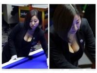 辣照瘋傳!大陸G奶撞球美女裁判呂帥希:我不靠胸活