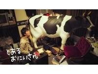 誰還能阻止日本人? 廠商要送等身大「乳牛熱水器」啦