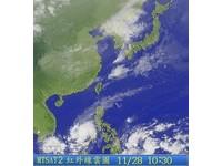 冬颱「辛樂克」 形成 投票日好天氣下周一變冷
