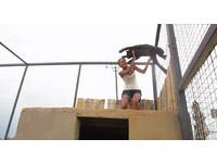 黑豹飛簷走壁不為獵物…是要給保育員一個大擁抱