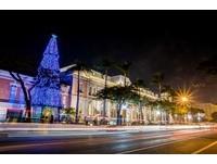 聖誕節將到!台南五大園區 15米高聖誕樹7日點燈