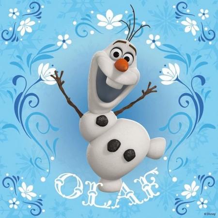 《冰雪奇缘》中象徵艾莎与安娜两人姊妹情谊的雪人「雪宝」(欧拉夫)