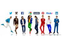 GQ/好潮啊!美國攝影師把8大熱門社交網站變身為帥氣男模