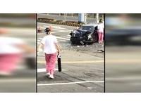 醫院前車禍提鋼瓶衝出救人 奇美3護士:這是本分