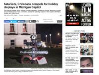 「撒旦十字架」纏蛇 密西根州耶誕「天使造反」了?