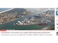 快訊/全球不平靜!義拉維納港商船相撞1沉沒11人失蹤