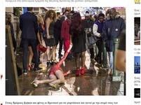 熱褲姐醉倒街頭雙腳大開! 英國跨年到處在「撿屍」